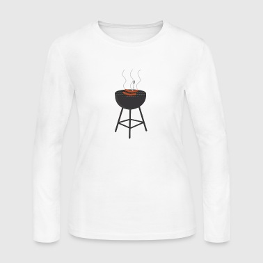 BBQ with sausages - Women's Long Sleeve Jersey T-Shirt