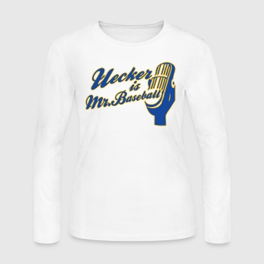 Ueck Uecker Milwaukee Mr. Baseball - Women's Long Sleeve Jersey T-Shirt