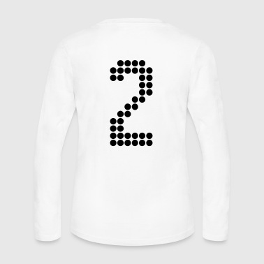 2, Numbers, Football Numbers, Jersey Numbers - Women's Long Sleeve Jersey T-Shirt