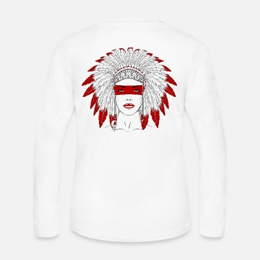 Squaw Native Girl - Women's Long Sleeve Jersey T-Shirt