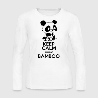 Keep Calm and eat Bamboo - Women's Long Sleeve Jersey T-Shirt