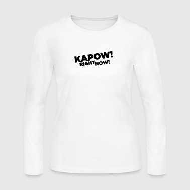 Kapow Right Now Logo - Women's Long Sleeve Jersey T-Shirt
