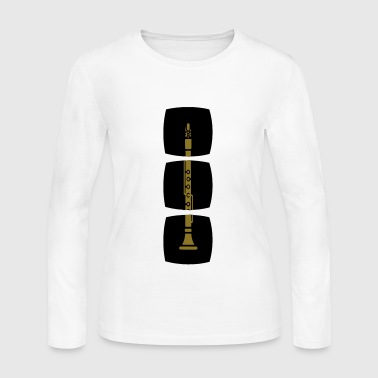The clarinet in the series of woodwind instruments - Women's Long Sleeve Jersey T-Shirt
