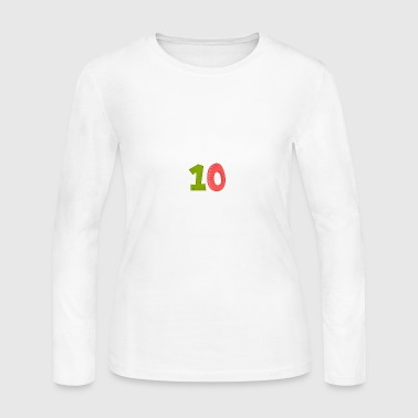 Nice 10 - Women's Long Sleeve Jersey T-Shirt