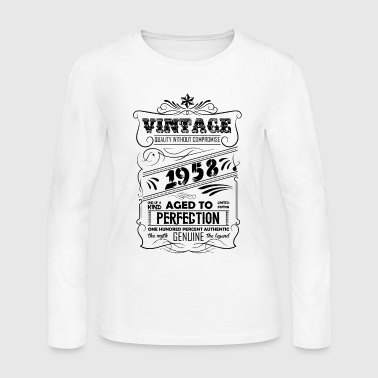Vintage Aged To Perfection 1958 - Women's Long Sleeve Jersey T-Shirt