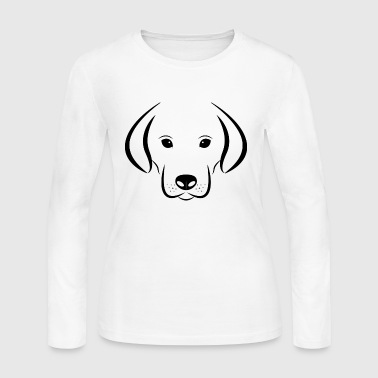 Dog Bone Lover Gift Present Pet Animal Doggie - Women's Long Sleeve Jersey T-Shirt