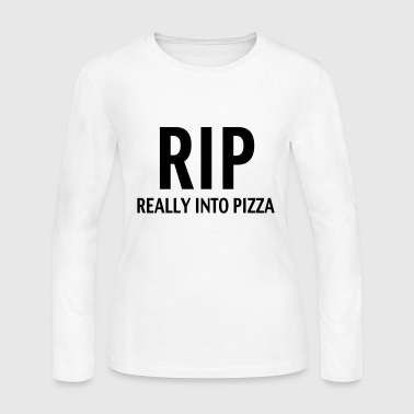 Rip really into pizza - Women's Long Sleeve Jersey T-Shirt