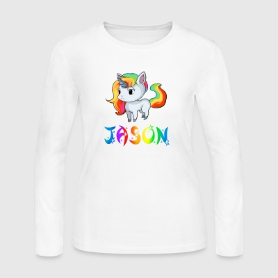 Jason Unicorn - Women's Long Sleeve Jersey T-Shirt