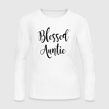 blessed auntie t-shirt - Women's Long Sleeve Jersey T-Shirt