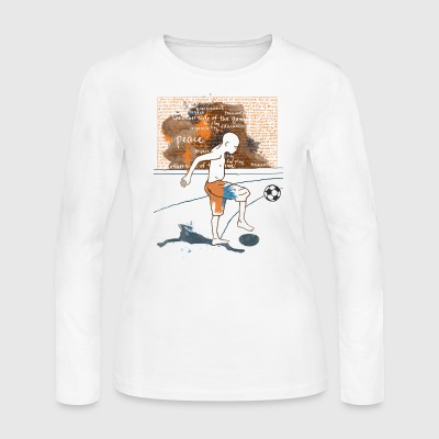 I love Football - Women's Long Sleeve Jersey T-Shirt