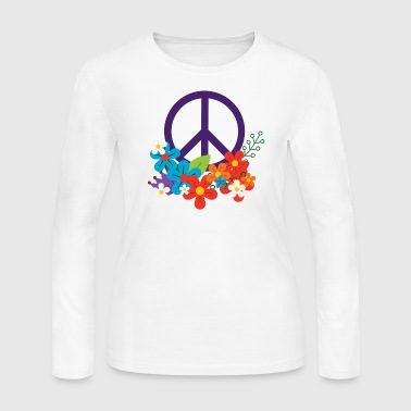 Hippie Peace Design - Women's Long Sleeve Jersey T-Shirt