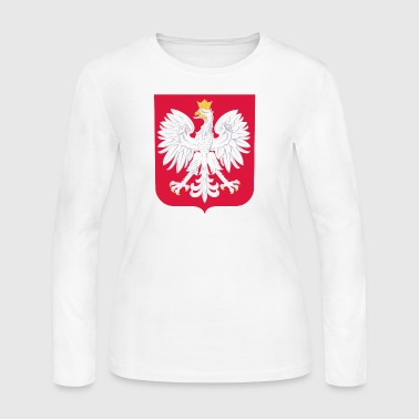 Polska Herb - Red White - Women's Long Sleeve Jersey T-Shirt