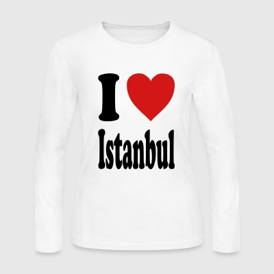 I love Istanbul (variable colors!) - Women's Long Sleeve Jersey T-Shirt