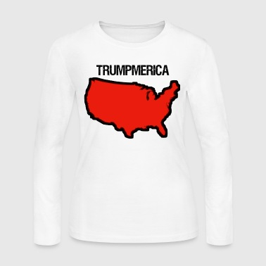 Bold Red United States with 'Trumpmerica' - Women's Long Sleeve Jersey T-Shirt