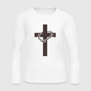 Jesus Christus Crucifix - Women's Long Sleeve Jersey T-Shirt