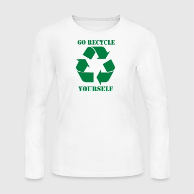 Go Recycle Yourself - Women's Long Sleeve Jersey T-Shirt