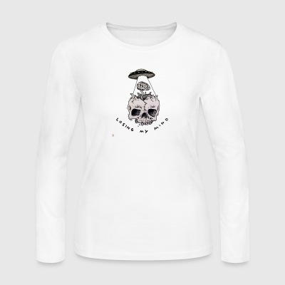 loosing my mind skull - Women's Long Sleeve Jersey T-Shirt