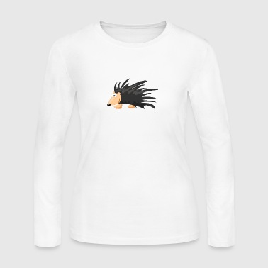 Cartoon Porcupine - Women's Long Sleeve Jersey T-Shirt