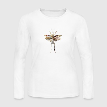 collage art GRASSHOPPER - Women's Long Sleeve Jersey T-Shirt