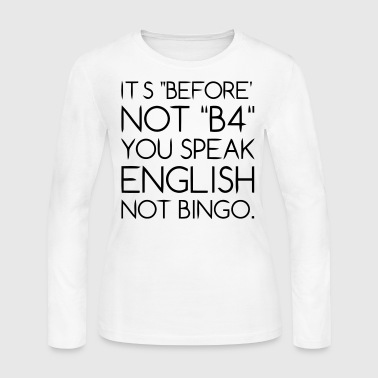 Language - Women's Long Sleeve Jersey T-Shirt