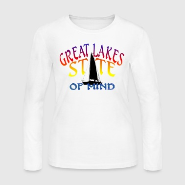 Great Lakes State of Mind - Women's Long Sleeve Jersey T-Shirt