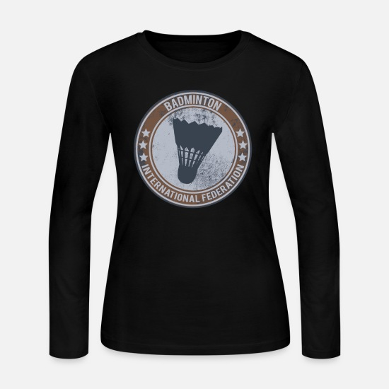 Gift Idea Long-Sleeve Shirts - badminton - Women's Jersey Longsleeve Shirt black