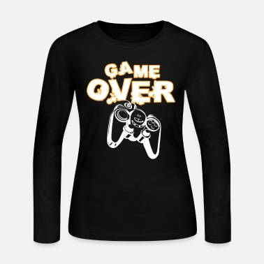 Game Over Funny Gamer Shirt - Women's Jersey Longsleeve Shirt