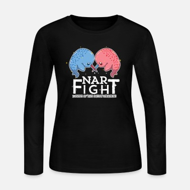 Save The World Narfight Narwhal Lover Sea Unicorn Lover - Women's Jersey Longsleeve Shirt