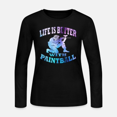 Paintball Paintball - Women's Long Sleeve Jersey T-Shirt