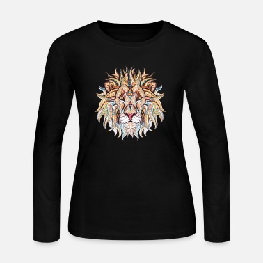 Ethnic Tribal Lion - Women's Jersey Longsleeve Shirt