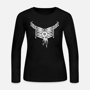 Indian Indian necklace with feathers - Women's Jersey Longsleeve Shirt