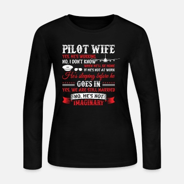 Traffic Pilot Wife T Shirt - Women's Jersey Longsleeve Shirt