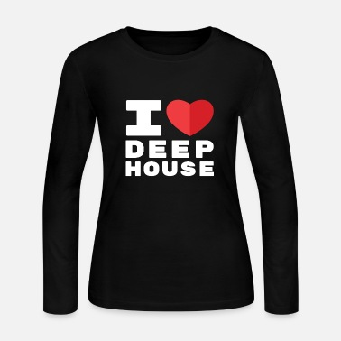 I Love Deep House - Women's Jersey Longsleeve Shirt