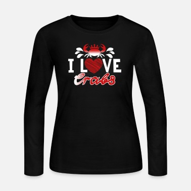 I Love Crabs Shirt - Women's Jersey Longsleeve Shirt