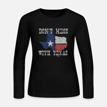 Texas Don'T Mess With Vintage Texas one Star S - Women's Jersey Longsleeve Shirt