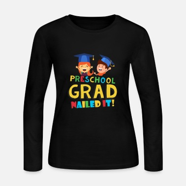 School Preschool Pre K Graduation Shirt for Boys Girls - Women's Jersey Longsleeve Shirt