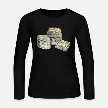 Money Money Stack - Women's Jersey Longsleeve Shirt