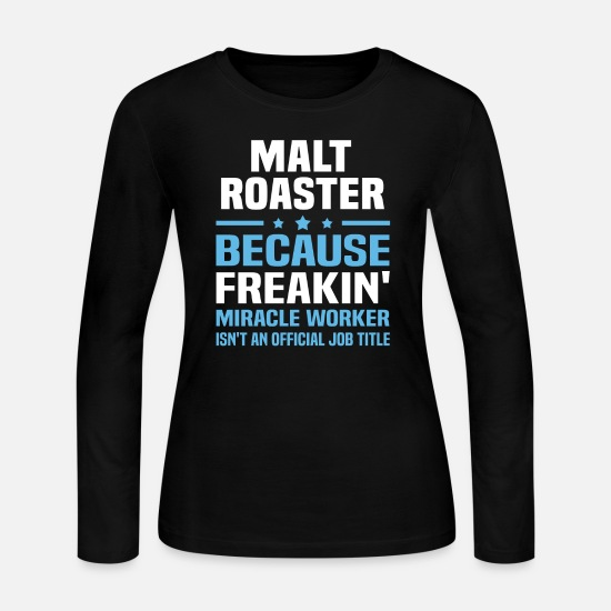 Malt Roaster Apparel Long-Sleeve Shirts - Malt Roaster - Women's Jersey Longsleeve Shirt black