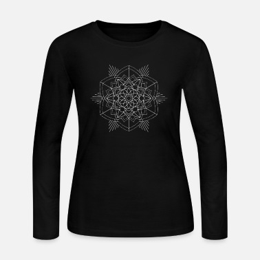 Mantra Mandala Mantra Illustration Tattoo Hipster Mantra - Women's Jersey Longsleeve Shirt