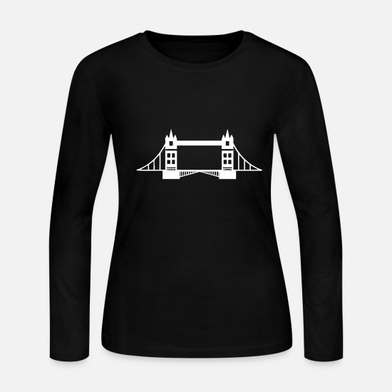 England Long-Sleeve Shirts - Tower Bridge - Women's Jersey Longsleeve Shirt black