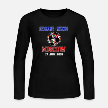 League Game football flags game league gift idea - Women's Long Sleeve Jersey T-Shirt