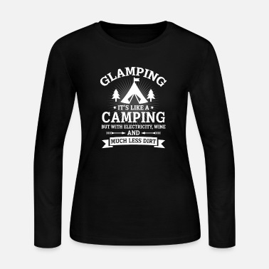 Wine Glamping it's like a Camping - Women's Long Sleeve Jersey T-Shirt