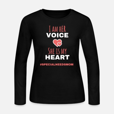 Autism - special needs mom - i am her voice she - Women's Jersey Longsleeve Shirt