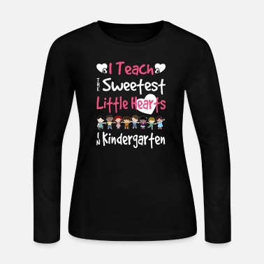 Kindergarten Little Hearts Kindergarten Teacher Valentines Day - Women's Jersey Longsleeve Shirt