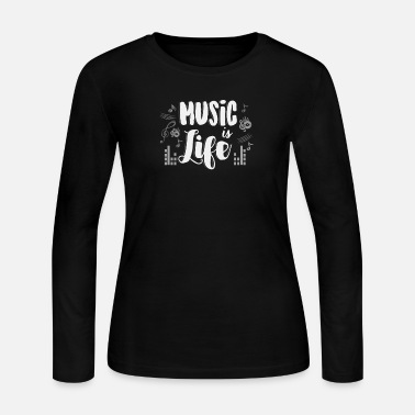Musical Instrument Alternative classical hip hop rock music is life - Women's Jersey Longsleeve Shirt