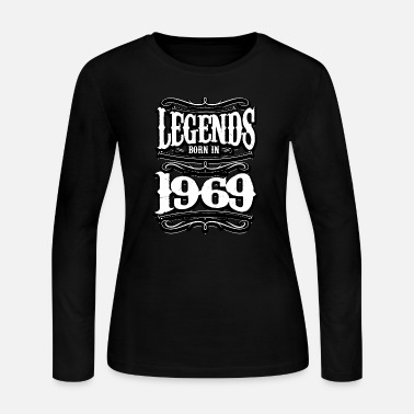 Date Of Birth Born in 1969 | Vintage Year of Birth Gift - Women's Jersey Longsleeve Shirt