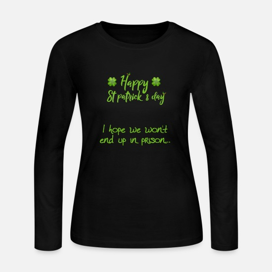 Lucky Charm Long-Sleeve Shirts - Funny St.Patrick's Day Lucky Charm Shirt - Women's Jersey Longsleeve Shirt black
