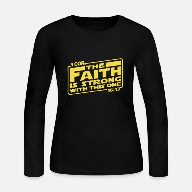 Cor first cor the faith is strong with this one yello - Women's Jersey Longsleeve Shirt
