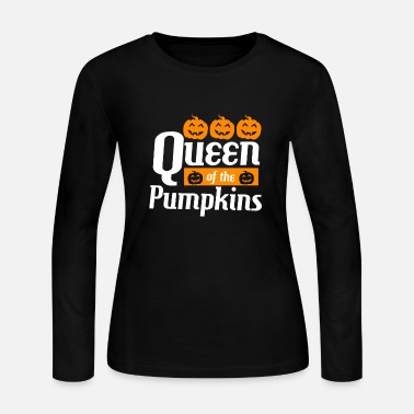Trick Or Treat Queen of the pumpkins - Women's Jersey Longsleeve Shirt
