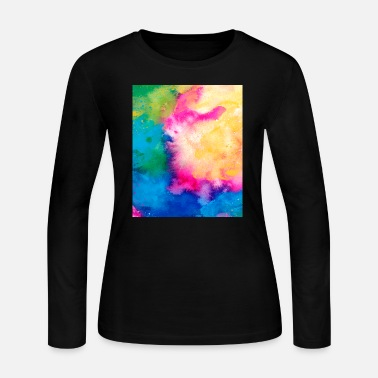 Teenager Abstract Colorful Pattern Yellow Pink Blue - Women's Jersey Longsleeve Shirt